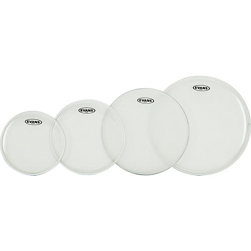 Evans G Plus Clear New Fusion Drumhead Set with Free 14