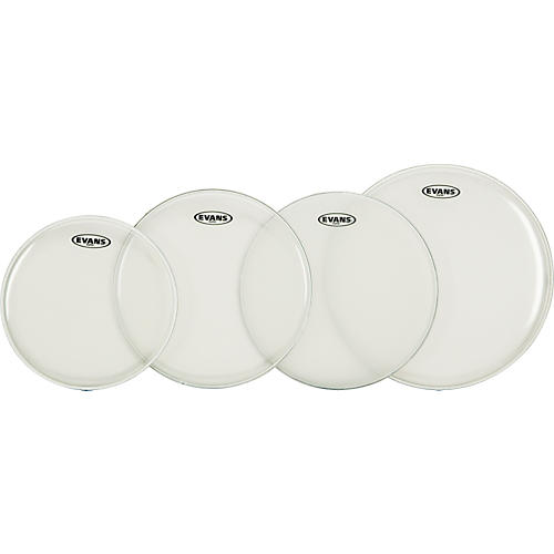 Evans G Plus Clear Rock Drumhead Set with Free 14