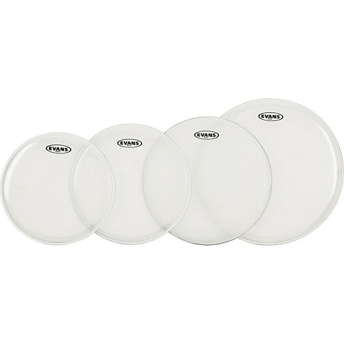 Evans G Plus Clear Standard Drumhead Set with Free 14