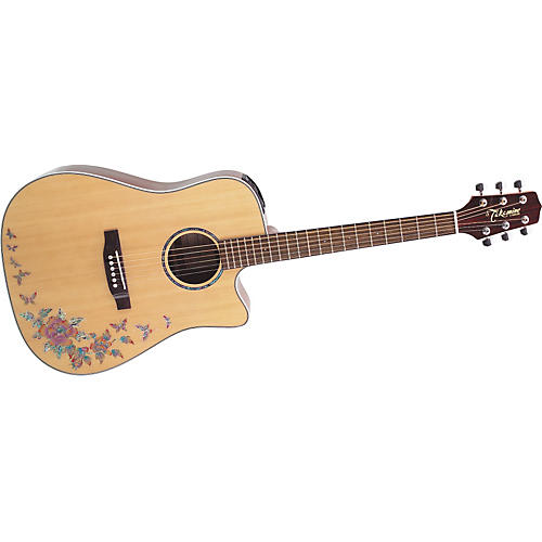 Takamine G Series EG530SC-BF Dreadnought Cutaway Butterfly Acoustic-Electric Guitar