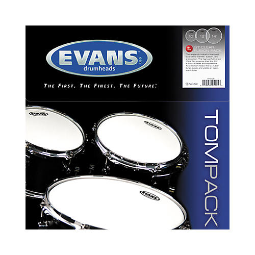 Evans G1 Clear 10/12/14 Fusion Drum Head Pack