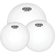 Evans G12 Coated White 10/12/16 Rock Drum Head Pack