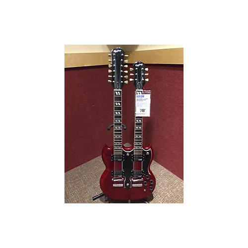 Epiphone G1275 Double Neck Solid Body Electric Guitar-thumbnail