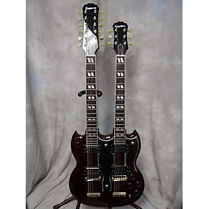 Pre-owned Epiphone G1275 Double Neck Solid Body Electric Guitar by Epiphone