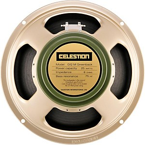 Celestion G12M Greenback 25W, 12 inch Guitar Speaker by Celestion
