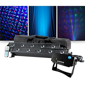 VEI G300 RGB Special Effects Laser with American DJ VBAR Pak Lighting Packa...