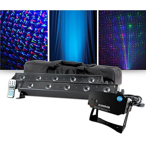 VEI G300 RGB Special Effects Laser with American DJ VBAR Pak Lighting Package