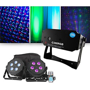 VEI G300 RGB Special Effects Laser with American DJ VPAR Pak Lighting Packa...