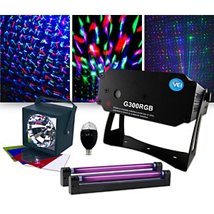 VEI G300 RGB Special Effects Laser with Party Bulb, Strobe and Blacklight P...