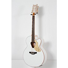 G5022CWFE-12 Rancher Falcon Jumbo 12-String Acoustic-Electric Guitar Level 2 White 888366070369