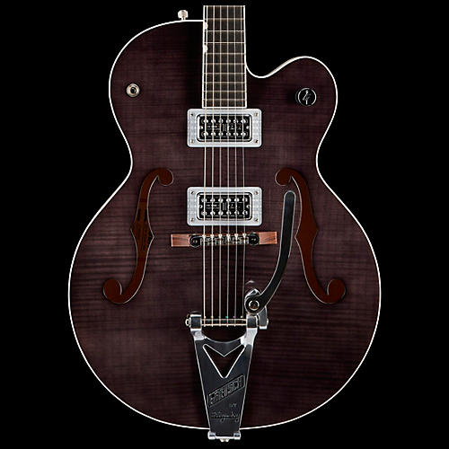 Gretsch Guitars G6120SH Brian Setzer Hot Rod Flame Maple Body Semi-Hollow Electric Guitar 2-Tone Tuxedo Black