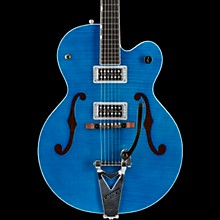 Gretsch Guitars G6120SH Brian Setzer Hot Rod Flame Maple Body Semi-Hollow Electric Guitar Harbor Blue 2-Tone