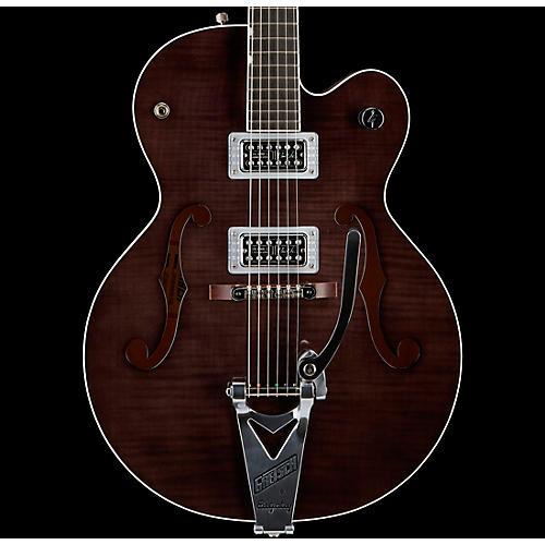 Gretsch Guitars G6120SH Brian Setzer Hot Rod Flame Maple Body Semi-Hollow Electric Guitar Tuxedo Black