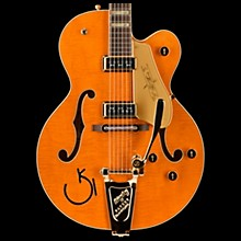 Gretsch Guitars G6120T-55 Vintage Select Edition '55 Chet Atkins Hollowbody with Bigsby Vintage Orange Stain