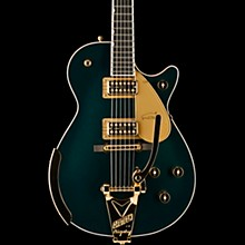 Gretsch Guitars G6134T-CDG Limited Edition Penguin with Bigsby and Gold Hardware Solidbody Electric Guitar Cadillac Green Metallic