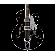 Gretsch Guitars G6136TSL Silver Falcon Electric Guitar with Bigsby -- Black Finish