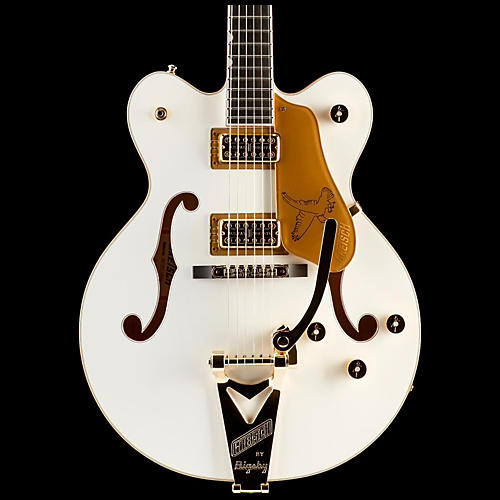 Gretsch Guitars G6139T-CBDC White Falcon Center Block Double Cutaway with Bigsby Tremolo White with Gold SparklBinding