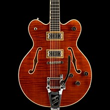Gretsch Guitars G6609TFM Players Edition Broadkaster Center Block with String-Thru Bigsby and Flame Maple Bourbon Stain