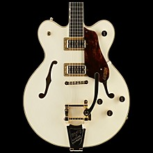 Gretsch Guitars G6609TG Players Edition Broadkaster Center Block with String-Thru Bigsby and Gold Hardware Vintage White