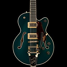 Gretsch Guitars G6659TG Players Edition Broadkaster Jr. Center Block Single-Cut with String-Thru Bigsby and Gold Hardware Cadillac Green