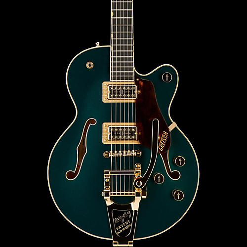 Gretsch Guitars G6659TG Players Edition Broadkaster Jr. Center Block Single-Cut with String-Thru Bigsby and Gold Hardware-thumbnail