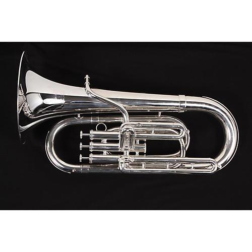 Getzen G8230S Series Bb Baritone Horn Silver 886830924590