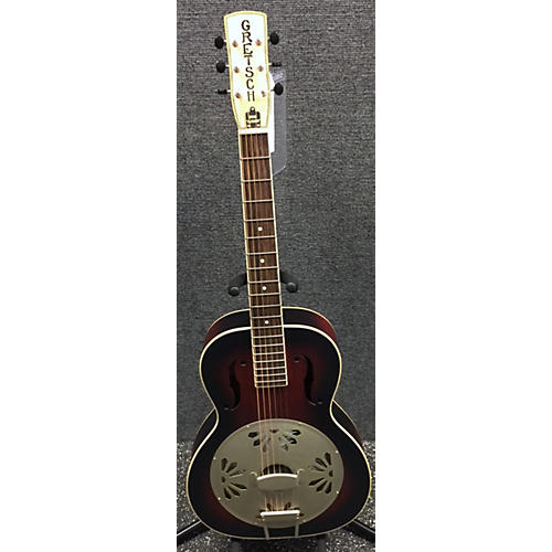 Gretsch Guitars G9240 Alligator Biscuit Round Neck Resonator Guitar-thumbnail