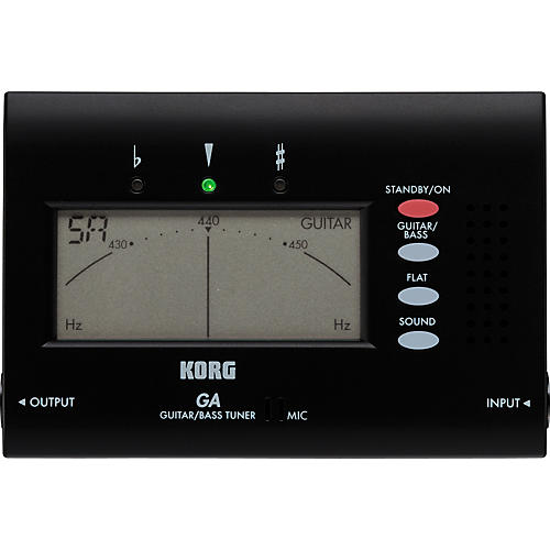 Korg GA-40 Electronic Guitar and Bass Tuner-thumbnail