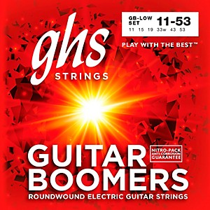GHS GB-LOW Boomers Low Tune Electric Guitar Strings by GHS