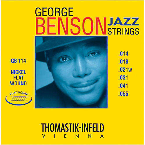 Thomastik GB114 George Benson Custom Heavy Flatwound Jazz Guitar Strings-thumbnail