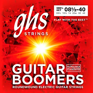 GHS GB8 1/2 Boomers Ultra Light+ Electric Guitar Strings by GHS
