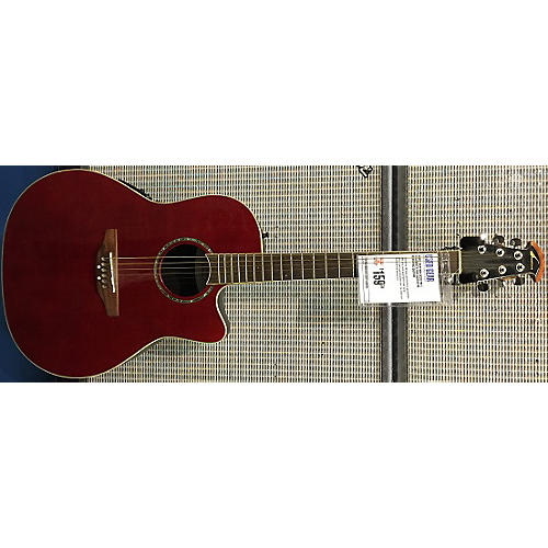 Ovation GC057M-5 Celebrity Red Acoustic Electric Guitar-thumbnail