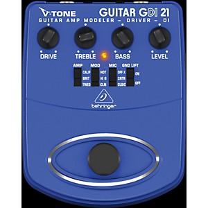 Behringer GDI21 V-Tone Guitar Driver DI Guitar Amp Modeler/Direct Recording...