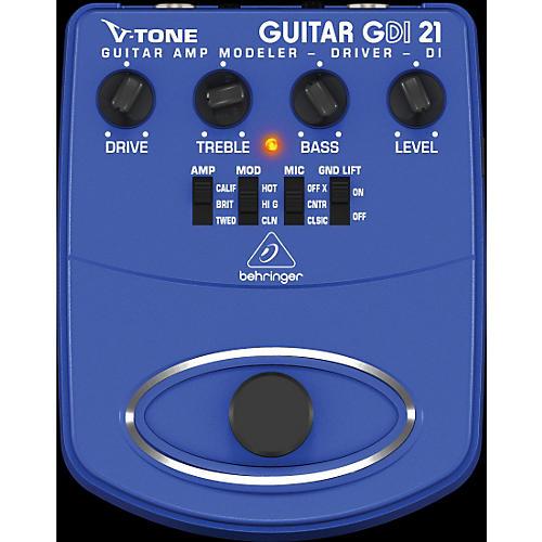 behringer gdi21 v tone guitar driver di guitar amp modeler direct recording preamp di box. Black Bedroom Furniture Sets. Home Design Ideas