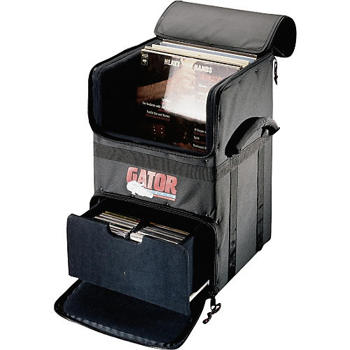 Gator GDJ-CADDY-100 Rolling DJ LP and CD Transporter-thumbnail