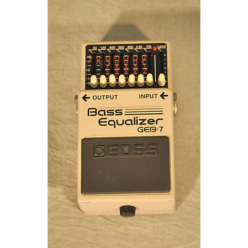 Boss GEB7 7 Band Bass Equalizer Bass Effect Pedal-thumbnail