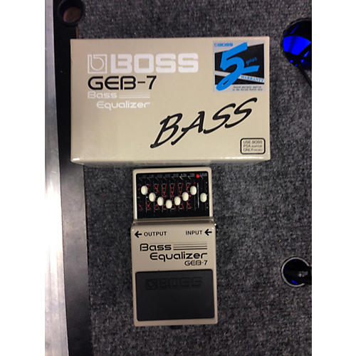 Boss GEB7 7 Band Bass Equalizer Bass Effect Pedal