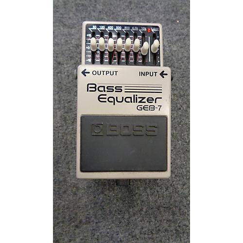 Boss GEB7 7 Band Bass Equalizer Bass Effect Pedal