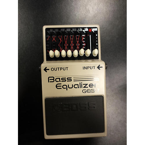 Boss GEB7 7 Band Bass Equalizer Gray Bass Effect Pedal