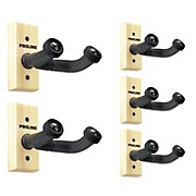 FretRest by Proline GH1 Guitar Wall Hanger 5-Pack (Wood Finish)