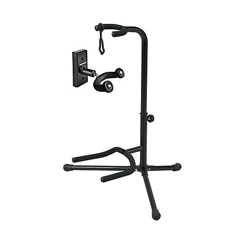 Musician's Gear GH1 Guitar Wall Hanger and SSG-303 Tubular Guitar Stand Package-thumbnail