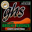 GHS Contact Core Bright Bronze Medium Acoustic Guitar Strings (13-56) (CCBB40)
