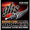 GHS RC-M3045 Round Core Boomers Medium Electric Bass Strings (45-105) (RC-M3045)