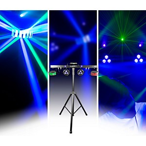 CHAUVET DJ GIGBAR 2 4-in-1 LED Lighting System with 2 LED Derbys, LED Wash ...
