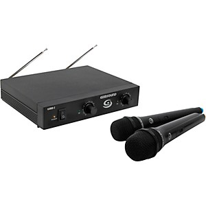 Gem Sound GMW-2 Dual-Channel Wireless Microphone System by Gem Sound