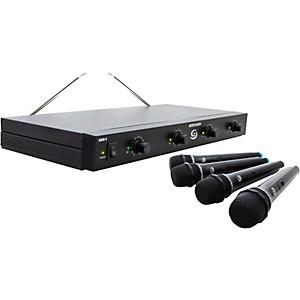 Gem Sound GMW-4 Quad-Channel Wireless Microphone System by Gem Sound