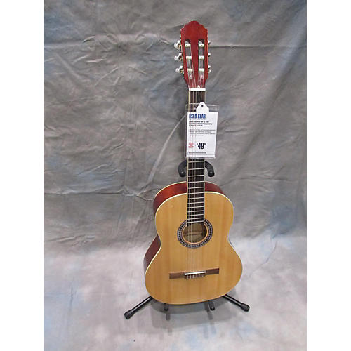 Giannini GN-15 Tan Face/Brown Body Classical Acoustic Guitar