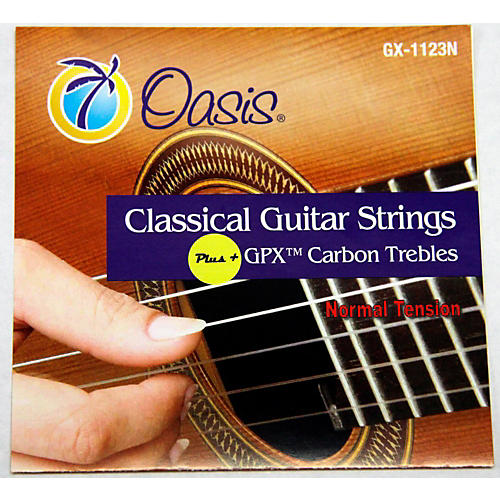 Oasis GPX+ Classical Guitar Carbon Trebles Normal Tension-thumbnail