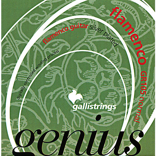Galli Strings GR105 GENIUS FLAMENCO Nylon Coated Silverplated NormalTension Classical Acoustic Guitar Strings
