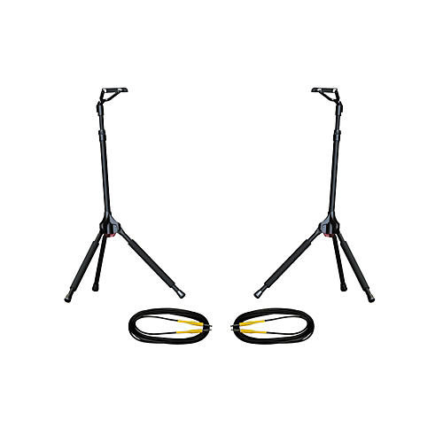 Ultimate Support GS-100 Genesis Single Guitar Stand 2-Pack w/Free Cables-thumbnail